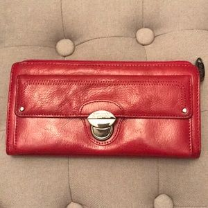 Kenneth Cole genuine red leather wallet